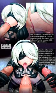 nierautomata nier hentai manga hentaimanga blowjob gloryhole porn 2b yorha blowjob