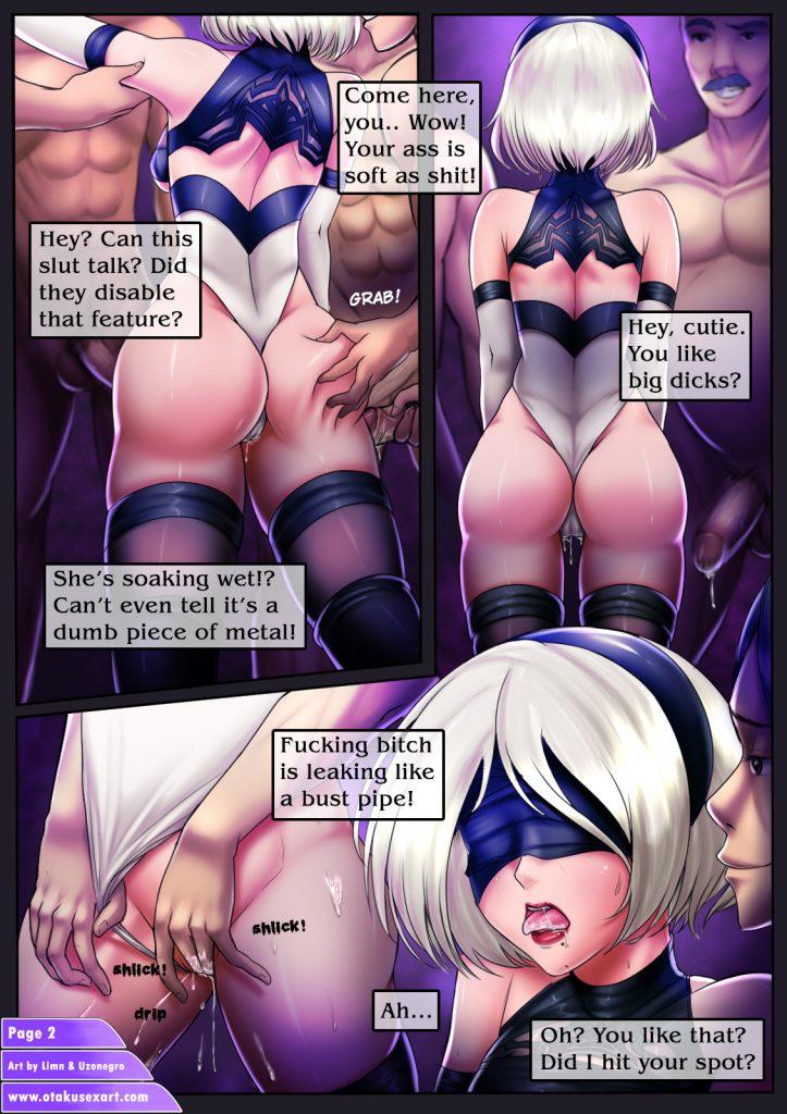 nier automata 2b hentai manga gangbang orgy comic full color