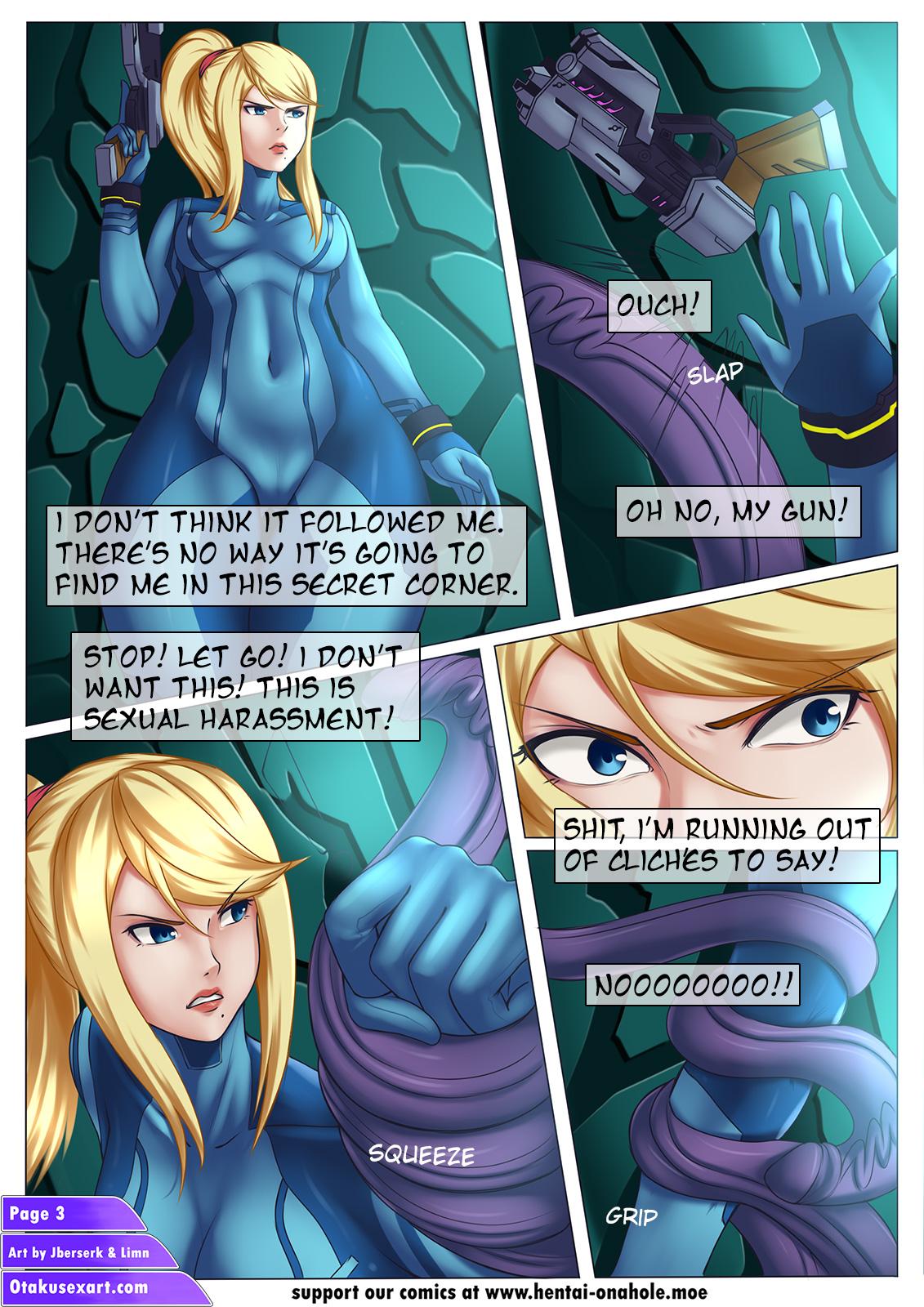 Alien Tentacle Porn Cartoon Comic samus tentacles dialog 1 | otaku sex art - part 2